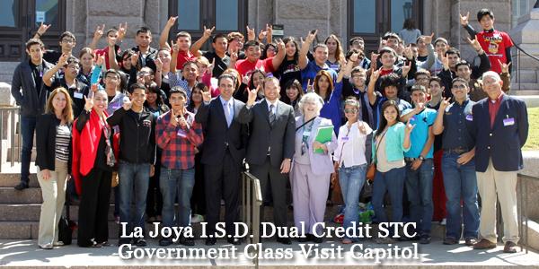 La Joya I.S.D. Dual Credit STC Government Class Visit Capitol